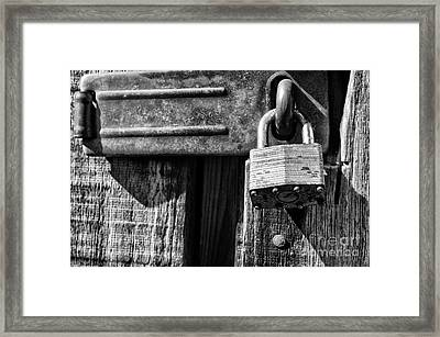 Lock And Latch Framed Print by Thomas R Fletcher