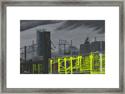 Lock Lane Acrylic On Canvas Framed Print