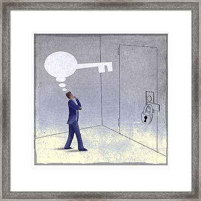 Lock Framed Print by Steve Dininno