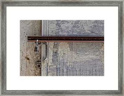 Locked And Barred Framed Print by Robert Ullmann
