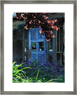 Locked Blue Door  Framed Print