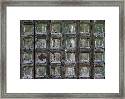 Framed Print featuring the digital art Locked Door by Ron Harpham