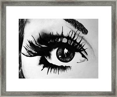 Locked Inside Framed Print by Corina Bishop