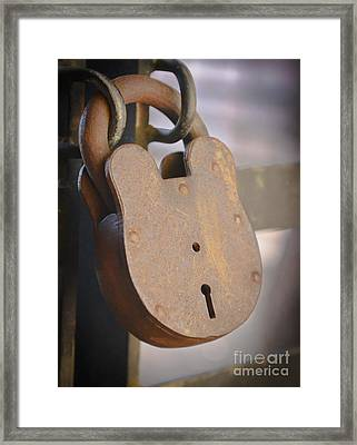 Locked Framed Print by Kevin Felts
