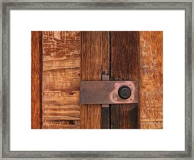 Locked Framed Print by Leland D Howard