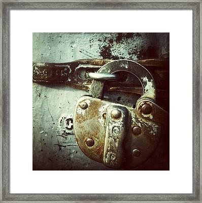 Locked Framed Print by Nathalie Longpre