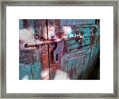 Locked Framed Print by Olivier Calas