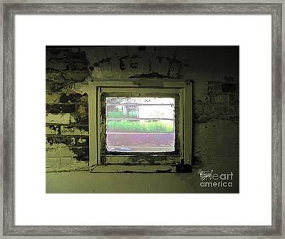 Locked Out Or Locked In  Framed Print by GG Burns