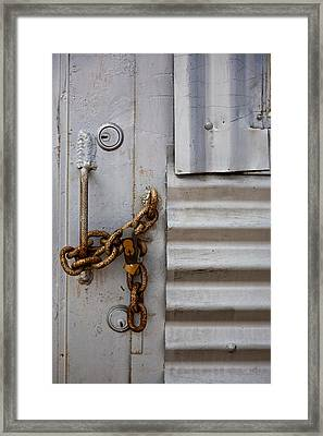 Locked Framed Print by Peter Tellone