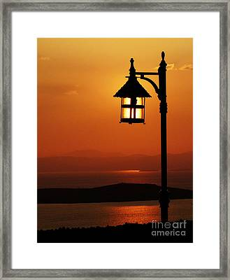 Locked Sun Framed Print