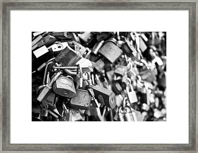 Locked Together Framed Print by Gabor Fichtacher