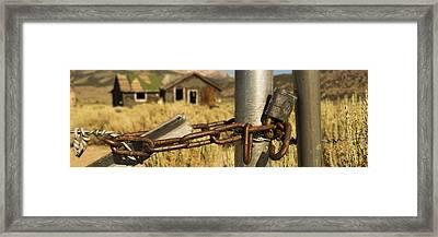 Locked Up Framed Print