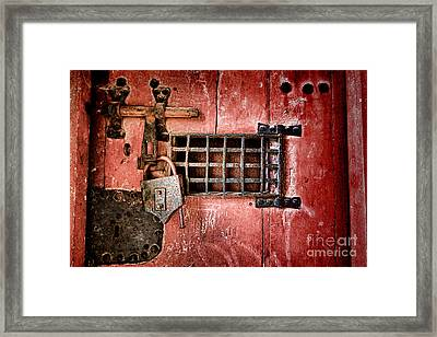 Locked Up Framed Print by Olivier Le Queinec