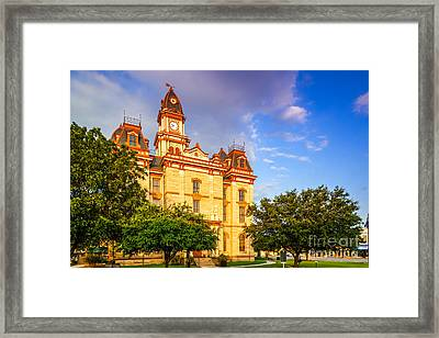 Lockhart Courthouse II Main Street - Lockhart Texas Framed Print