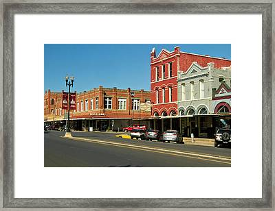 Lockhart, Texas Main Street Framed Print by Larry Ditto