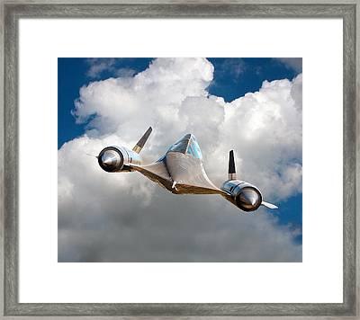 Lockheed Blackbird A12 Trainer Framed Print by David Murphy