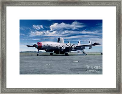 Lockheed Ec-121 Warning Star Early Warning Aircraft Framed Print by Wernher Krutein