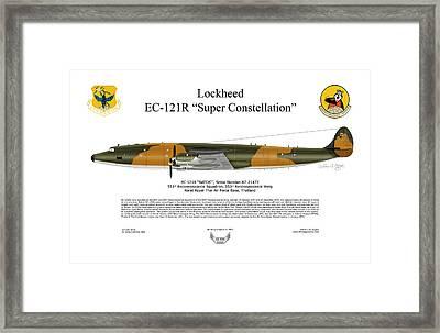 Lockheed Ec-121r 553rs Korat Rtafb Framed Print by Arthur Eggers