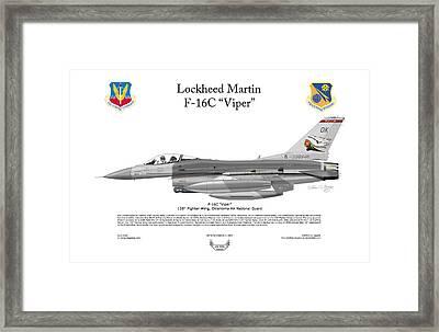 Lockheed Martin F-16c Viper Framed Print by Arthur Eggers