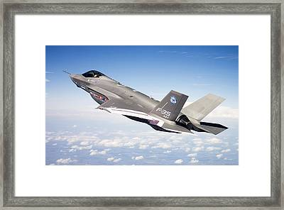 Lockheed Martin F 35 Joint Strike Fighter Lightening II Framed Print