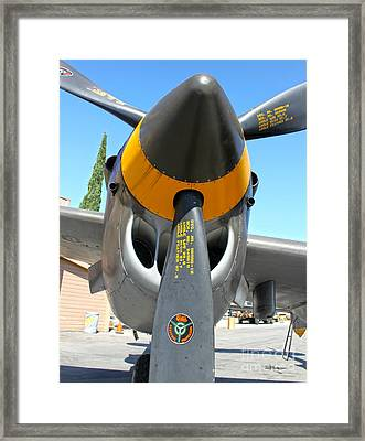 Lockheed P-38 - 162 Skidoo - 02 Framed Print by Gregory Dyer