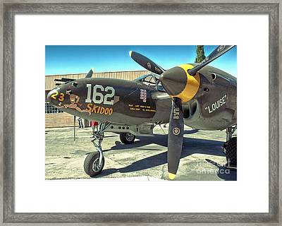 Lockheed P-38 - 162 Skidoo - 07 Framed Print by Gregory Dyer