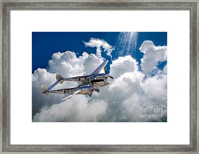 Lockheed P-38 Lightning Framed Print by Wernher Krutein