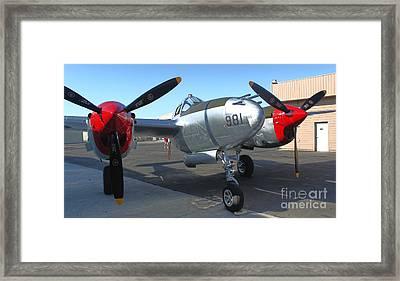 Lockheed P-38l Lightning Honey Bunny  - 02 Framed Print by Gregory Dyer