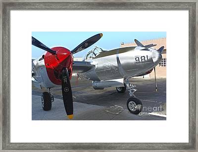 Lockheed P-38l Lightning Honey Bunny  - 03 Framed Print by Gregory Dyer