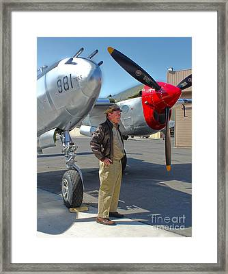 Lockheed P-38l Lightning Honey Bunny  - 05 Framed Print by Gregory Dyer