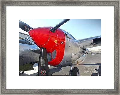 Lockheed P-38l Lightning Honey Bunny  - 07 Framed Print by Gregory Dyer