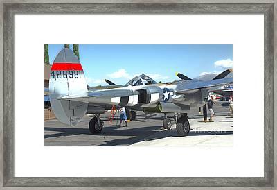 Lockheed P-38l Lightning Honey Bunny  - 09 Framed Print by Gregory Dyer