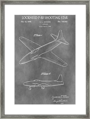Lockheed P-80 Shooting Star Framed Print
