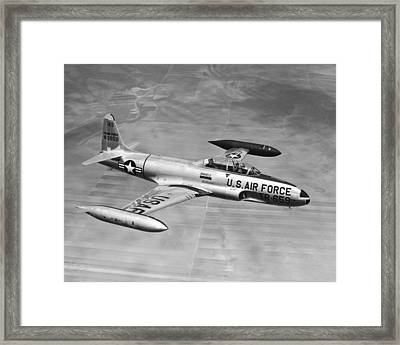 Lockheed T-33 Jet  Trainer Framed Print