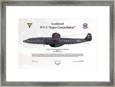 Lockheed Wv-2 Super Constellation Aewron13 Framed Print by Arthur Eggers