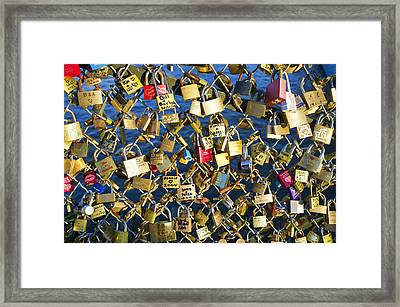 Locks Of Love Framed Print by Hugh Smith
