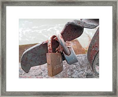 Locks Without A Key Framed Print by Barbara McDevitt