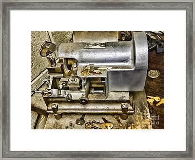 Locksmith - The Key Maker Framed Print