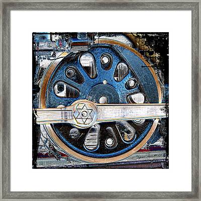 Loco Wheel Framed Print by Sylvia Thornton