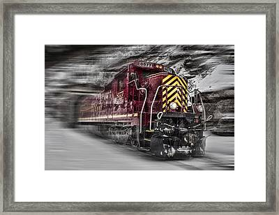 Locomotion Framed Print by Ellen Heaverlo