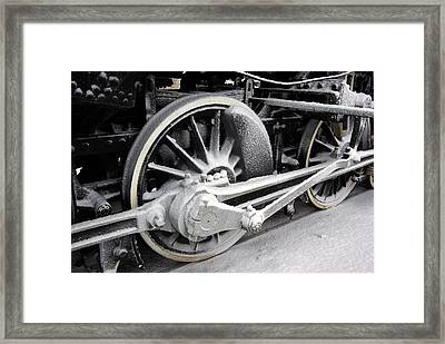 Locomotive 1095 Drive Wheels Framed Print by Paul Wash