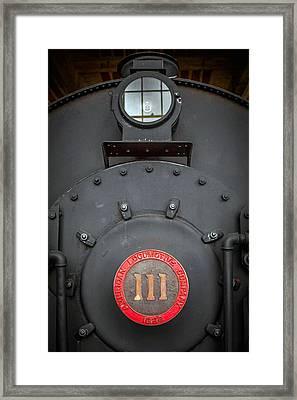 Locomotive 111 Framed Print by Marion Johnson