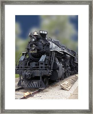 Locomotive 639 Type 2 8 2 Front And Side View Framed Print