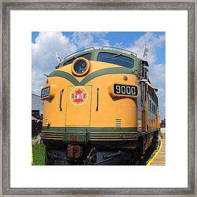 Locomotive 9000  Framed Print by Carol Cottrell