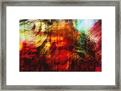 Locomotive Abstract  Framed Print by Ann Powell