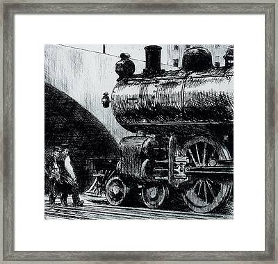 Locomotive Framed Print by Edward Hopper