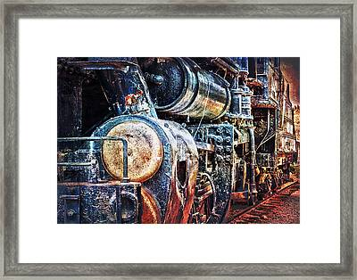 Framed Print featuring the photograph Locomotive by Gunter Nezhoda