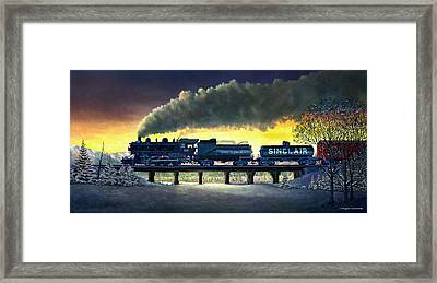 Locomotive In Winter Framed Print by Douglas Castleman