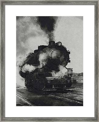 Locomotive Framed Print by Jack Zulli