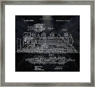 Locomotive Patent Framed Print by Dan Sproul